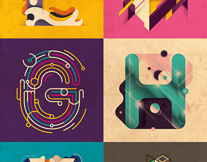 Abstract typography design