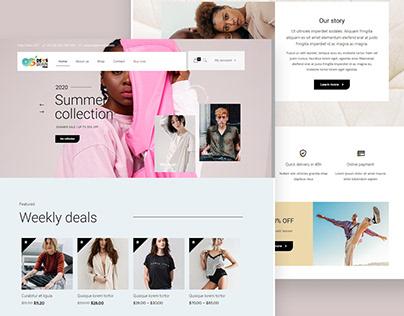 Online shop website development with Woocommerce