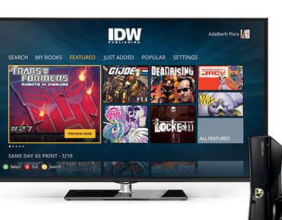 IDW Xbox360 App Concept