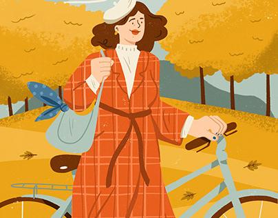 Look d'automne - Illustration for Adobe France
