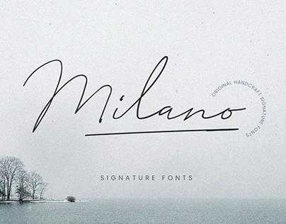 Milano Signature Script Fonts