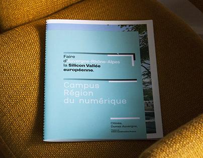 Campus Région du numérique, editorial design