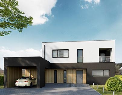 VIZprofi Modern House in Sweden - Exterior and Interior