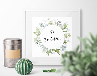 Fresh greenery frames, patterns and border