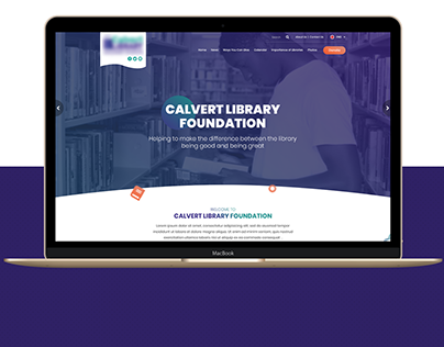 Library Home page design