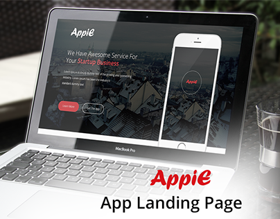AppiE - App Landing Page UI Template