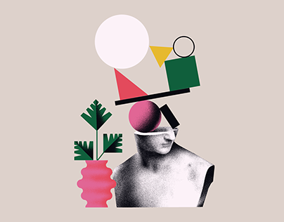 A set of two abstract illustrations