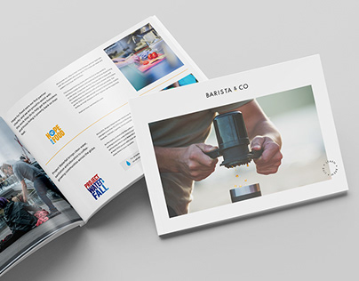 Brochue Print Design-Barista & Co
