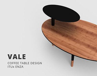 VALE coffee table design