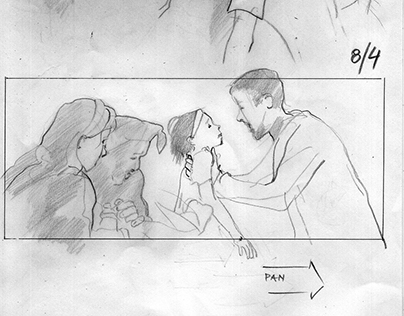 "Storyboard for short feature film ""The Iron Story"""