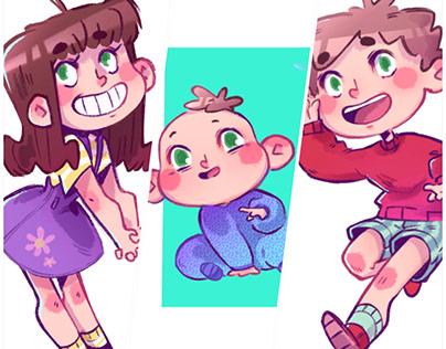 Children's book character designs