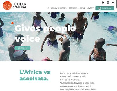 Children of Africa - website
