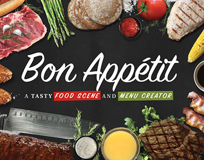 Bon Appétit - Food Scene Mockup Generator