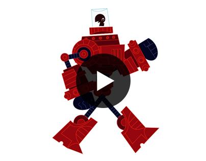 Robot walk and run cycle
