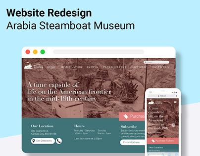 Steamboat Arabia   Website Redesign