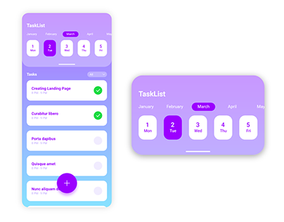 Mobile App UI Design in Adobe XD (Task List App)