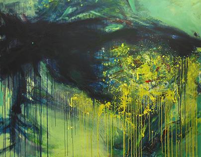 Ecstasy, oil on canvas, 190cm x 150cm, 2017.