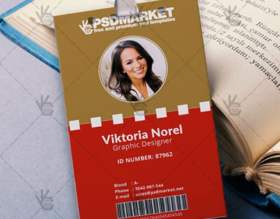 Office – Free ID Card PSD Template