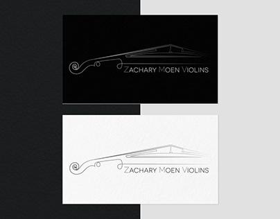 Logo design for Zachary Moen Violins - Michigan - USA
