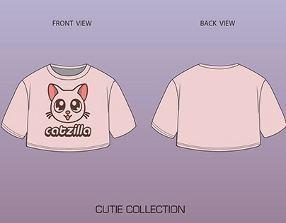 T shirt and crop top collection