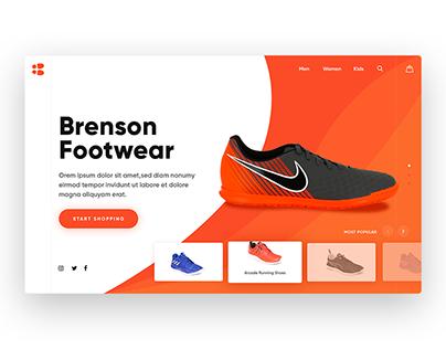 Brenson Footwear Branding Work