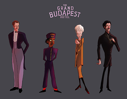 The Grand Budapest Hotel character design