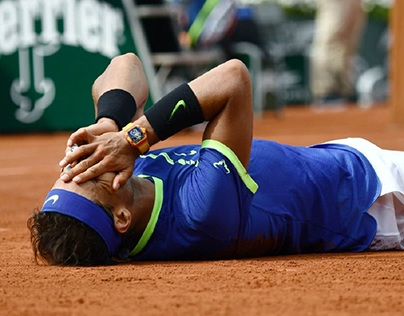 Rafael Nadal during French Open finals