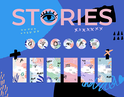Stories Icons & Backgrounds Set
