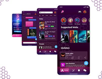 SciFinder: A Sci-fi Social Media App Concept