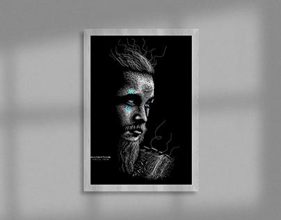 Ragnar Lothbrok (Travis Fimmel) - Digital Scribble