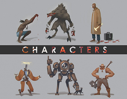 Character skethes