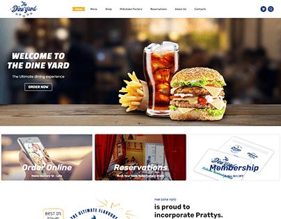 the dine yard restaurant website