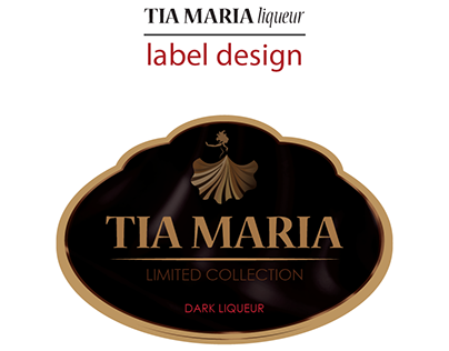 Tia Maria Liqueur label design