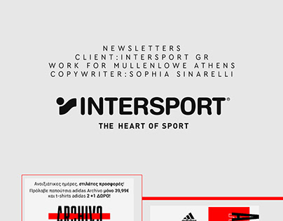 Newsletters & Icons Design For Intersport