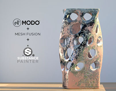 3D Art Experiment - Mesh Fusion & Substance Painter