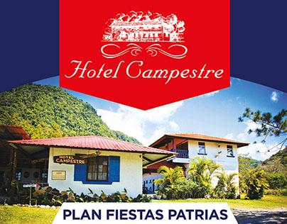 Flyer Hotel Campestre - Antón, Panamá