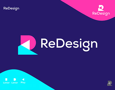 ReDesign Logo concept: Letter R + Letter D + play