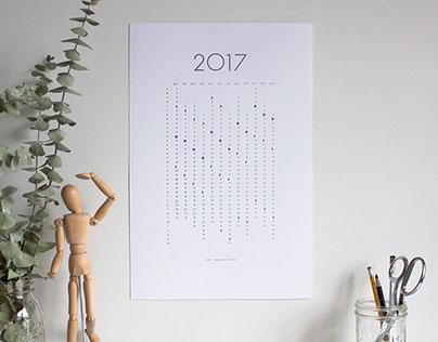 2017 Letterpress Lunar Calendar