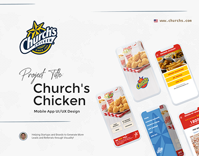"""Church's Chicken"" Mobile App UI/UX Design"
