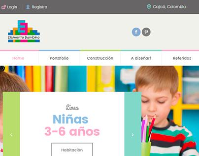 Sitio web Elemento Bambino