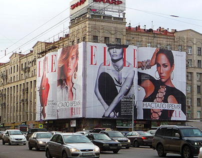 Outdoor installation for Elle