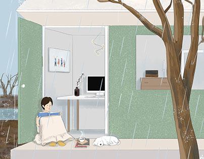 24节气——春季插画 Ju(julin插画师)季节