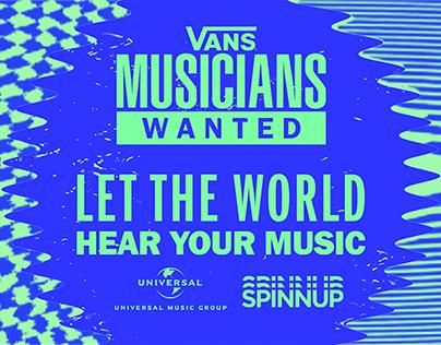VANS: Musicians Wanted