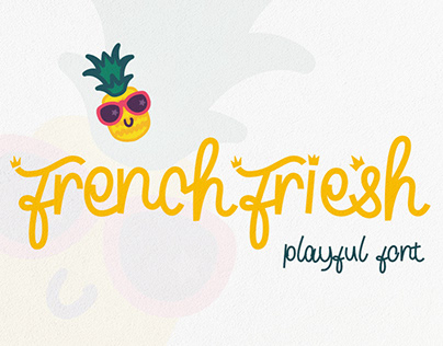 French Friesh playful font