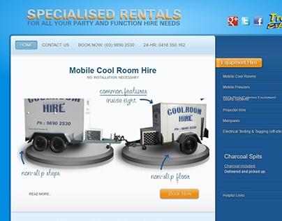 Specialised Rentals Website Design & Build