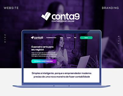 Conta9 - Redesign Marca e Site