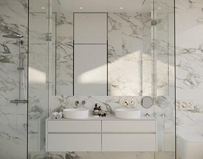 Private house master bathroom, Crimea