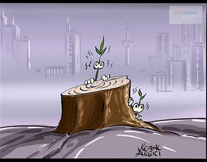 Nature cartoon