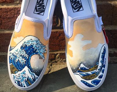 Vans Custom Shoe Design - The Great Wave