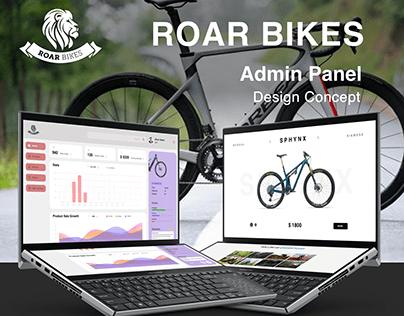 Admin Panel Roar Bike